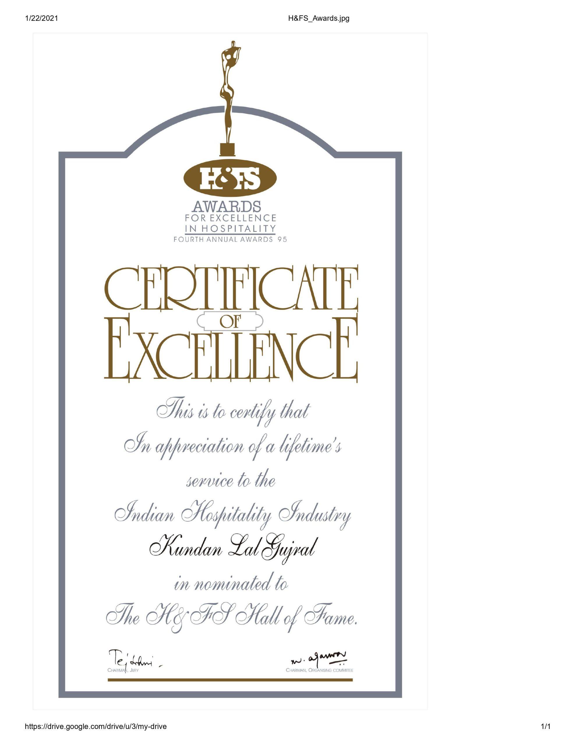 h&fs award